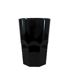 Bicchiere Granity in policarbonato nero lt 1
