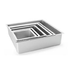 Tortiera quadrata profonda in alluminio anodizzato cm 15x15x10