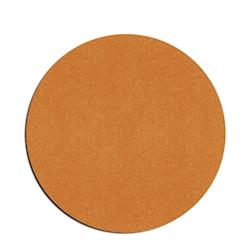 Sottobicchiere tondo in pelle rigenerata liscia color naturale cm 10
