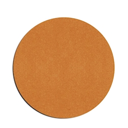 Sottobicchiere in pelle rigenerata liscia color naturale cm 10