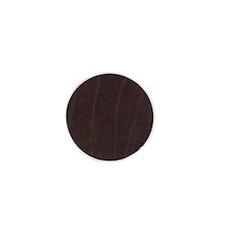 Sottobicchiere tondo in pelle rigenerata ruga marrone cm 10
