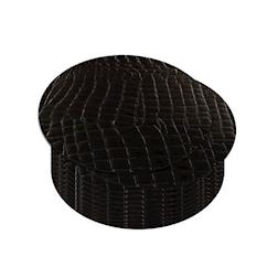 Sottobicchiere tondo in pelle rigenerata coccodrillo nera cm 10