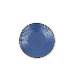 Piatto piano Mediterraneo in ceramica blu cm 20