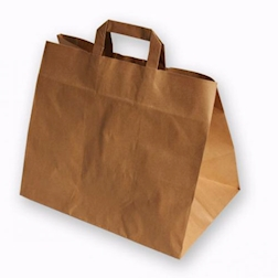 Shopper borsa Avana in carta marrone cm 32x23x23
