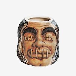Tiki mug Schrumpfkopf in ceramica cl 50,5