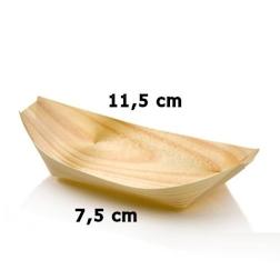Mini barchetta in legno abete cm 11,5 x 6,5