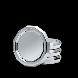 Sottobicchieri Magppie in acciaio inox con swarovski cm 10