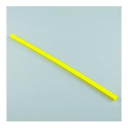 Cannuccia corta gialla in plastica cm 12 x 0,3