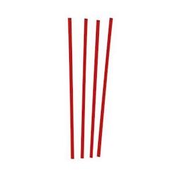 Cannuccia corta rossa in plastica cm 12 x 0,3
