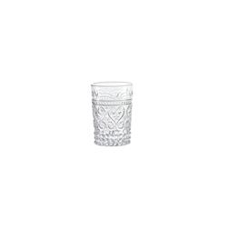 Bicchiere provenzale Rock Zafferano in vetro trasparente cl 27