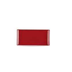 Vassoio Linea Buffet Churchill rettangolare in melamina rosso cm 30 x 14,5