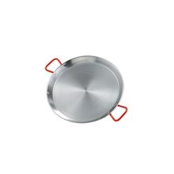 Paellera Ideal Ilsa in acciaio al carbonio con maniglie rosse cm 28