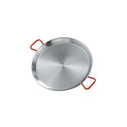 Paellera Ideal Ilsa in acciaio al carbonio con maniglie rosse cm 32