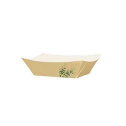 Barchette in carta marrone con decoro feel green cm 22