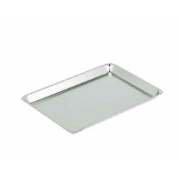 Vassoio rettangolare Classic in acciaio inox lucido cm 31x22