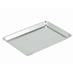Vassoio rettangolare Classic in acciaio inox lucido cm 41x28
