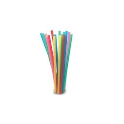 Cannuccia drinking straw plastica cm 13,5 assortite