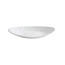 Vassoio ovale Mamba in melamina bianco cm 30.5x17.5x5