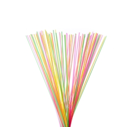 Cannuccia drinking straw in plastica colori assortiti lunga cm 100