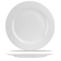 Piatto piano rialzato Linea Profile Churchill in ceramica vetrificata bianco cm 30,5