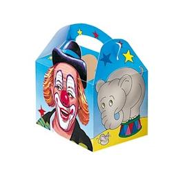 Scatola Circus bimbi per asporto in cartone con disegni cm 16 x 10 x 17