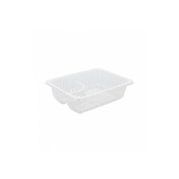 Vaschetta 2 scomparti in plastica trasparente cm 14,5x10,5x4