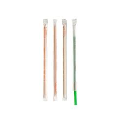 Cannucce Drinking Straws dritte in plastica imbustate singolarmente colori assortiti cm 21
