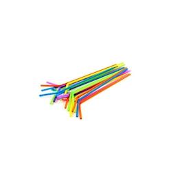 Cannucce Drinking Straws pieghevoli in plastica cm 24 colori assortiti