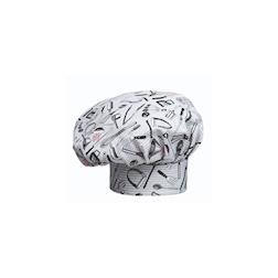 Cappello cuoco 100% cotone con decoro Chefwear