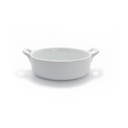 Tegamini ovali Clever Mps in porcellana bianca cm 7,5x6,5x2