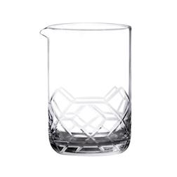 Mixing glass Asanoha in vetro taglio rete cl 55
