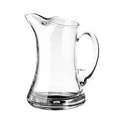 Caraffa waisted in vetro trasparente lt 1,10