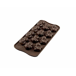 Stampo cioccolatini Angeli Silikomart in silicone 12 impronte