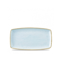 Vassoio rettangolare Stonecast Churchill in ceramica vetrificata azzurra cm 35x18,5