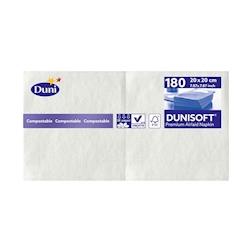 Tovagliolo Dunisoft Duni in cellulosa bianca cm 20x20
