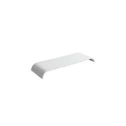 Vassoio rettangolare in porcellana bianca cm 25x10