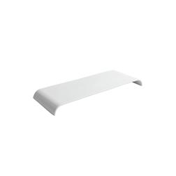 Vassoio rettangolare in porcellana bianca cm 40x15
