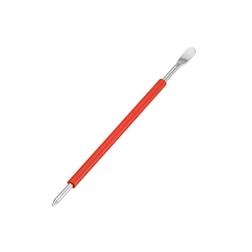 Penna decora latte con manico rosso in acciaio inox 18.10