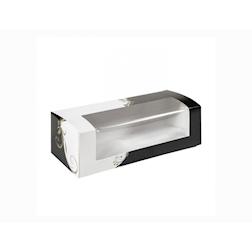 Contenitore con finestra Elegance in carta nera e bianca cm 26x11x8