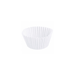 Pirottino monouso Petit Fours da cottura in carta bianca cm 5x2,7