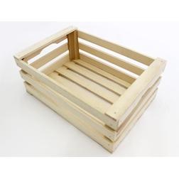 Mini cassetta a listelli in legno cm 17x12x9