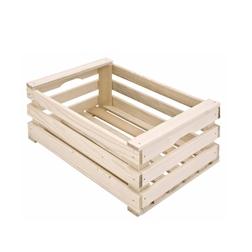 Mini cassetta a listelli in legno cm 25x17x7,5