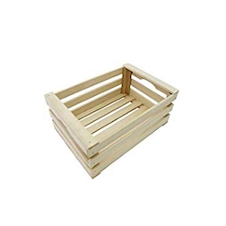 Mini cassetta a listelli in legno cm 30x20x10