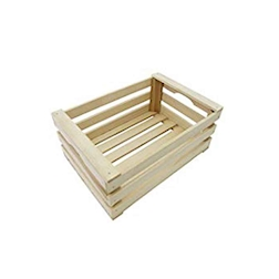 Mini cassetta a listelli in legno cm 35x23x10