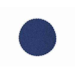 Sottobicchieri tondi smerlati in carta blu cm 12
