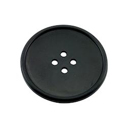 Sottobicchieri bottone in gomma nera cm 10
