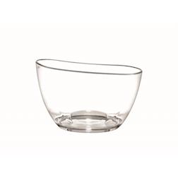 Spumantiera eclisse ovale in acrilico trasparente cm 39,6x29,2