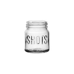 Bicchiere barattolo Shot in vetro cl 7,5