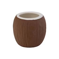 Tiki mug Coconut in porcellana marrone cl 49