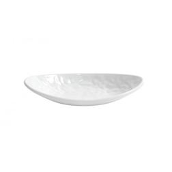 Vassoio ovale Mamba in melamina bianca cm 25x13
